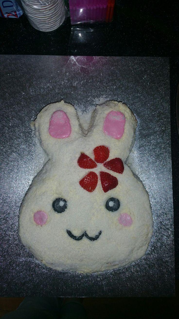 Bunny smash taart
