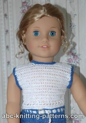 210 best Free Crochet Patterns For The American Girl Or 18 Inch Doll ...