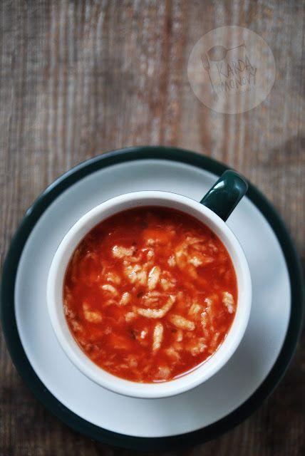 Kardamonovy: Zupa pomidorowa z lanymi kluskami