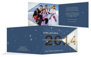 Damit macht Ihr bestimmt Eindruck: mit einer selbstgestalteten Einladungskarte zu Weihnachten! Am besten mit einem schön weihnachtlichen, oder winterlichen Foto von Euch!