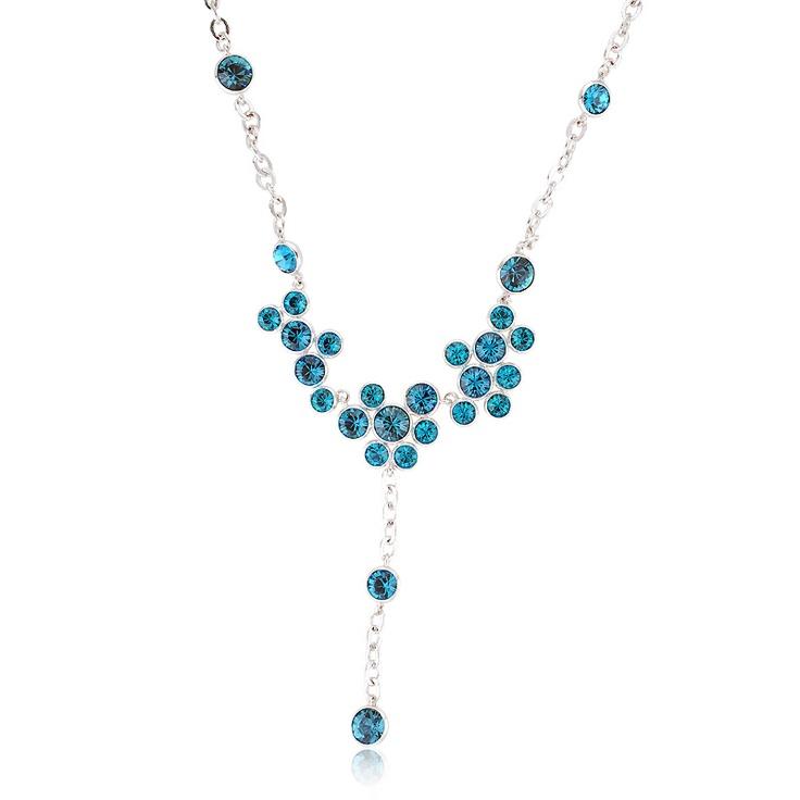 Primrose Crystal Necklace  #crystal, #necklace  www.playbling.com/en/crystal-jewelry/primrose-crystal-necklace-256.html: Crystals, Girl, Primrose Crystal, Crystal Necklace, Clothing, Lady, Jewelry, Accessories