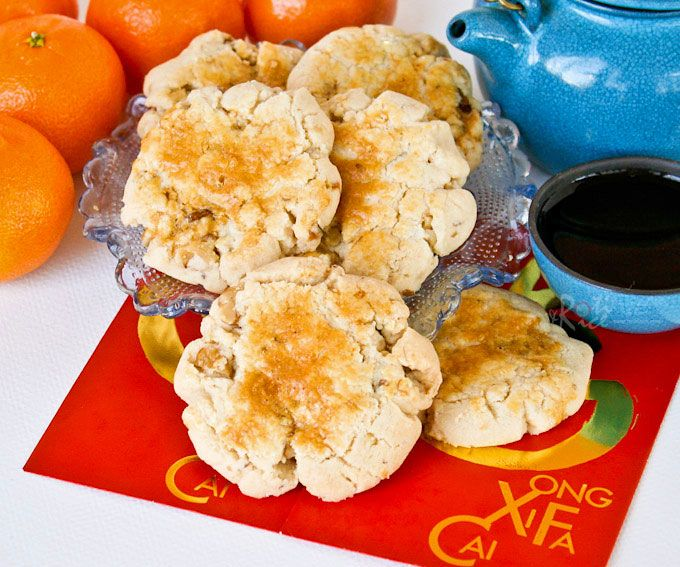 Huge Hup Toh Soh (Chinese Walnut Biscuits) are an old time favorite. These are made with butter and scaled down in size. Just as delicious! | RotiNRice.com