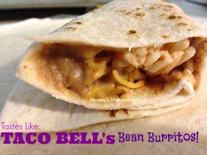 Taco Bell Bean Burritos #Recipe #CopyCat #Nom