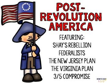 In this social studies resource, there is a nonfiction reading passage based on the Post Revolution America and early US government. Discussion includes Shay's Rebellion, Federalists, 3/5 Compromise, The New Jersey Plan, and The Virginia Plan, as well as the election of our