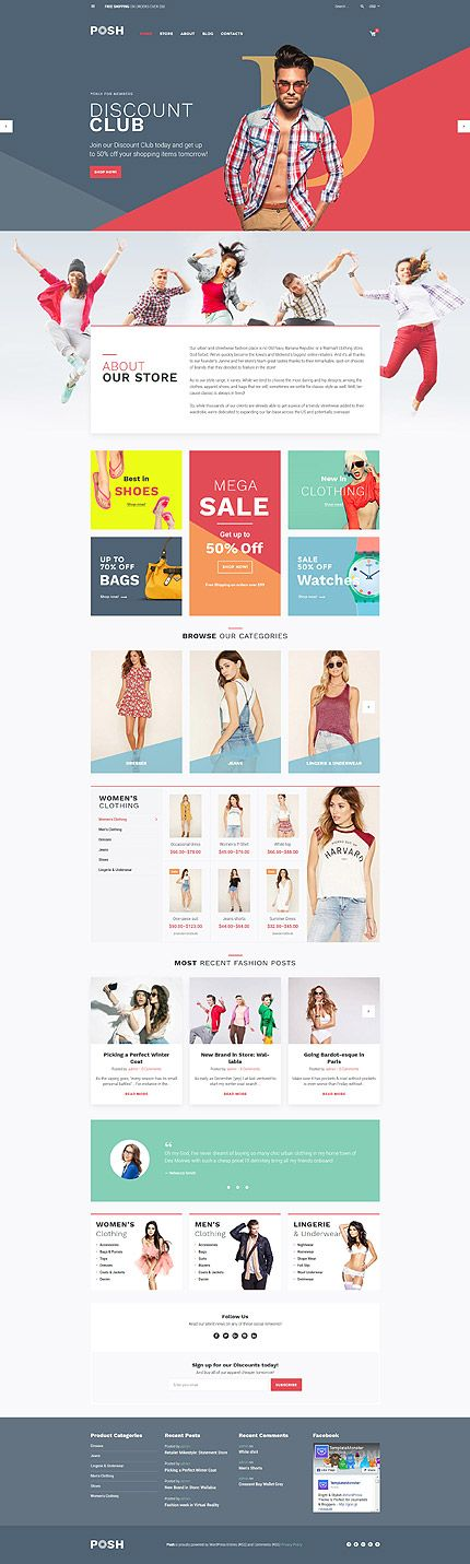 Fashion Clothing Online Store #WooCommerce #template. #themes #business…