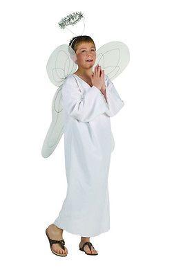 WHITE HEAVENLY ANGEL BOY COSTUME RELIGIOUS BIBLE CHILD CHERUB COSTUMES 90006