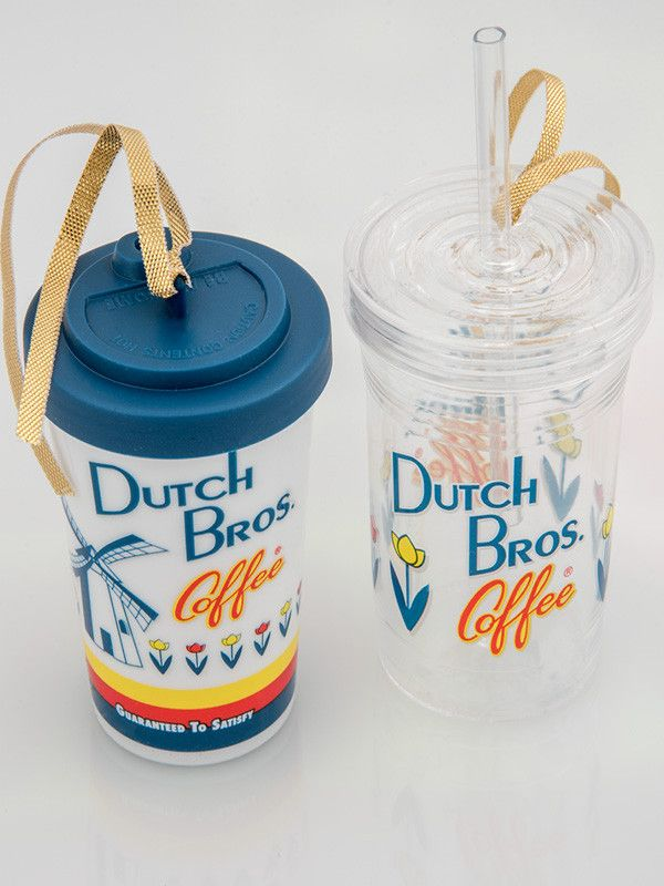 Dutch Bros. Cup Ornaments (2-Pack)