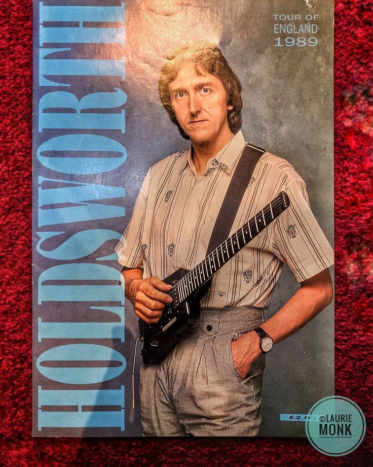 Allan Holdsworth tour programme from 1989 UK tour.