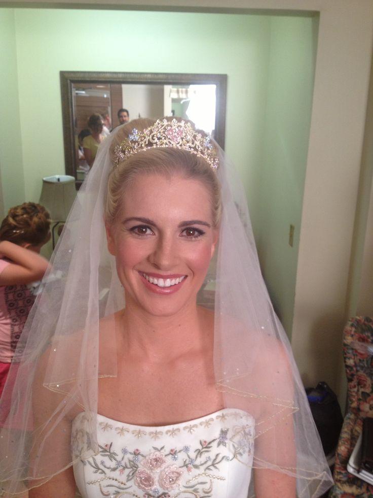 Cinderella like bridal style high bun stylist ashley for Wedding dresses huntsville al