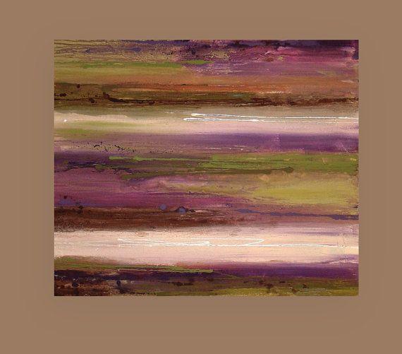 Il sagit dune belle peinture. Belles nuances riches dolive, prune, violet, taupe, crème et browns profonde de chocolat sont accentués avec des touches de blanc métallique.  Texture très riche et lourd pour une sensation terreuse très moderne. Afficherait magnifiquement dans nimporte quelle direction. Côtés seront finies et arriveront a signé, scellé et câblé pour affichage facile.  TITRE : Mousse DIMENSIONS : 30x36x1.5 médium : Acrylique sur Galerie toile chambre vues peut-être ne pas être à…