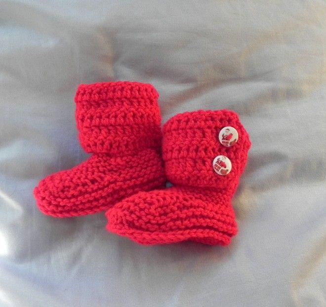 Stivaletti stile Hugg  rosso Babbo Natalle