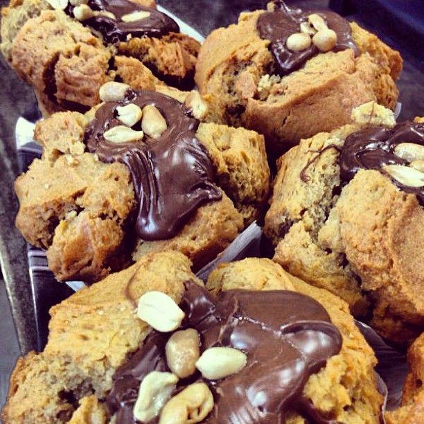 Peanut-Butter Chocolate Muffins