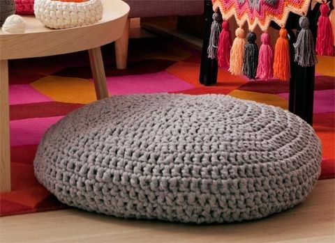 How to make a crochet floor cushions: Crochet your own comfy seat that's perfect for both indoor and outdoor occasions.