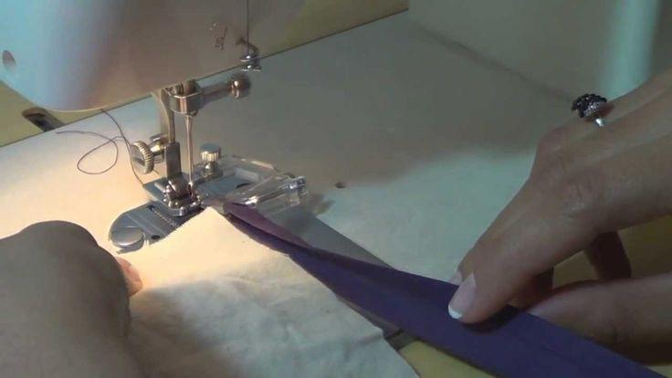 Como costurar viés com aparelho para viés.