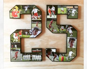 12 inch single digit collage. Celebrate your fav athlete on