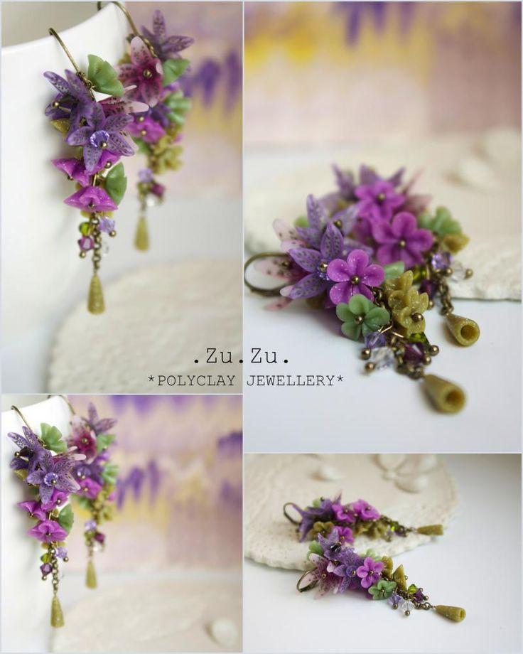 Lilies. In the grass. Zu.Zu. - SAShE.sk - Handmade Earrings