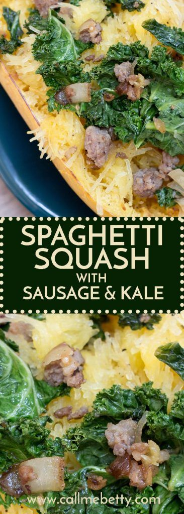 This spaghetti squash with Italian sausage and kale is a great way to use up the spaghetti squash in your garden. With only a few ingredients it's simple, easy and we love it!