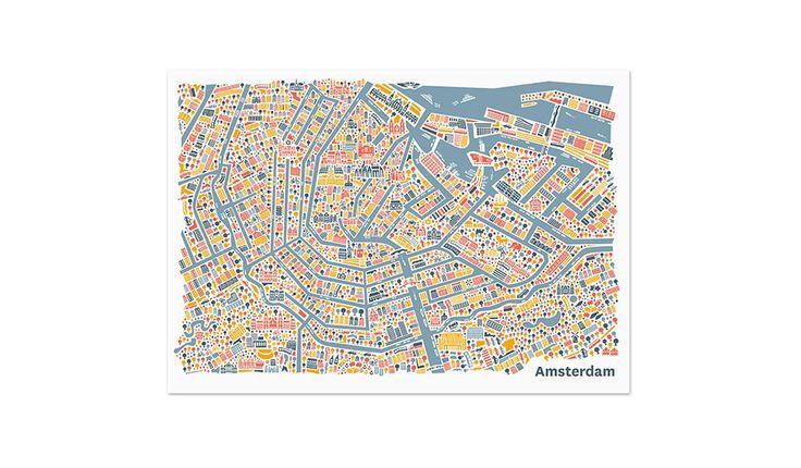 MONOQI   Amsterdam Poster - 50x70 Nina Wilsmann
