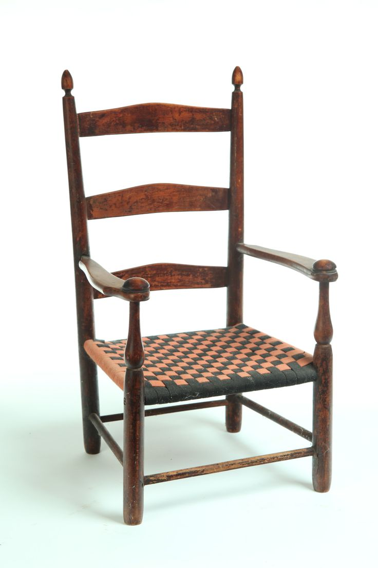 Antique shaker furniture - Shaker Child S Chair American 2nd Half 19th Century Ladderback With Mushroom Cap Arms And Replace Tape Antique Chairswicker
