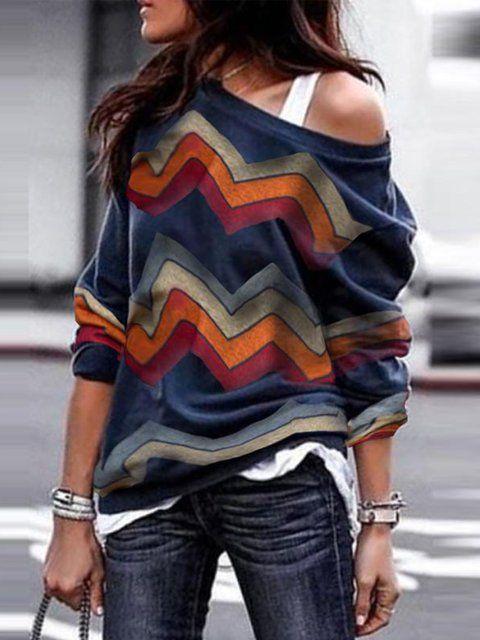 05c6d8d7aef Shop T-Shirts - Vintage One Shoulder Long Sleeve Cotton T-Shirts online.  Discover unique designers fashion at justfashionnow.com.