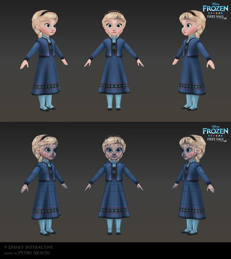 Elsa Child - Low poly model for Frozen Free Fall by Shaka-zl on DeviantArt