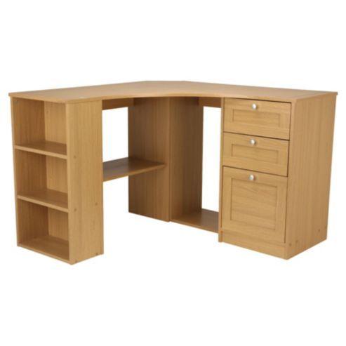Fraser Oak Effect Corner Desk With Storage We Office Furniture And Desks