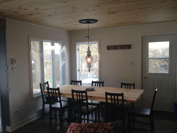 17 meilleures id es propos de planche de bois plafond sur pinterest plafond en planches. Black Bedroom Furniture Sets. Home Design Ideas