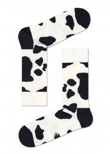 Happy Socks černo-bílé dámské ponožky Dalmatin