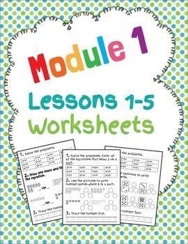 Included are worksheets for EngageNY Math 1st Grade Module 1 Lessons 1-5. I created these worksheets for early finishers, but they can also be used as pre-assessments, morning work, a math center or a review before the next lesson. More are coming soon so please follow me to receive notifications when I add more! :) Also, check out my EngageNY Smartboard activities:Engage NY Module 1 Engage NY Module 4 Visit my blog!