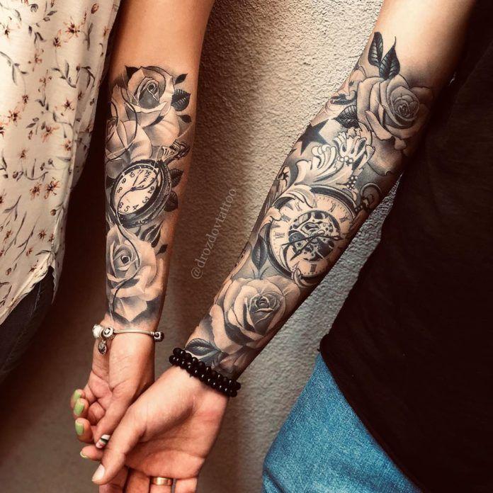 Forearm Tattoo Women Flowers Forearm Tattoo Women In 2020 Unique Half Sleeve Tattoos Forearm Tattoo Women Sleeve Tattoos For Women