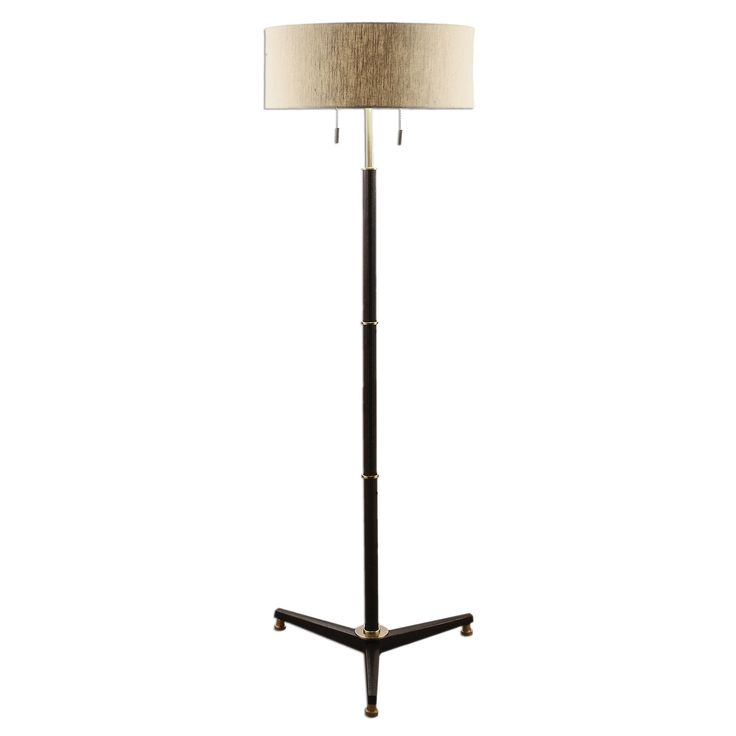 Levice Rust Black Floor Lamp by Uttermost
