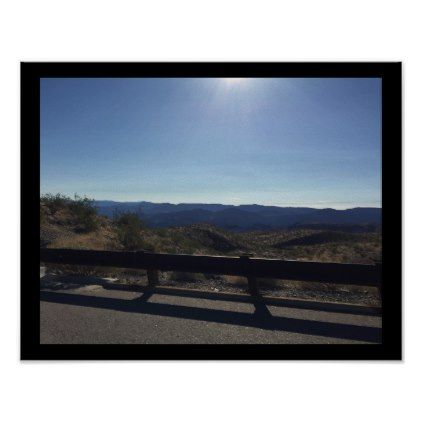 Nevada Desert Highway View Poster - outdoor gifts unique cyo personalize