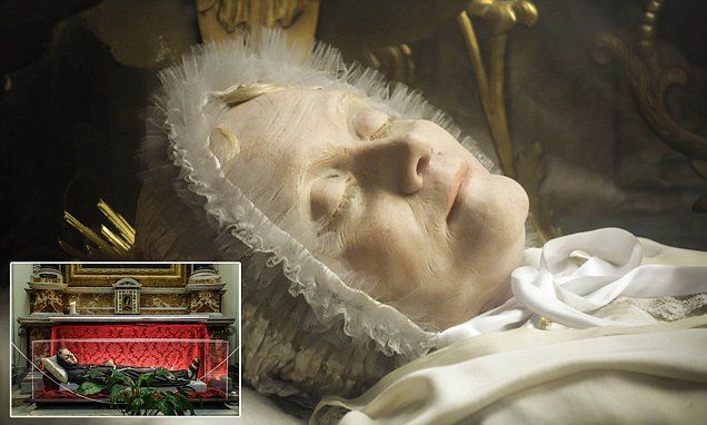 Haunting images of Italy's 'incorruptible' preserved saints whose bodies are displayed for thousands to worship  Read more: http://www.dailymail.co.uk/news/article-3146906/Haunting-images-beautifully-preserved-saints-remains-displayed-faithful-worship-Italy.html#ixzz3ekKrgwrR  Follow us: @MailOnline on Twitter | DailyMail on Facebook