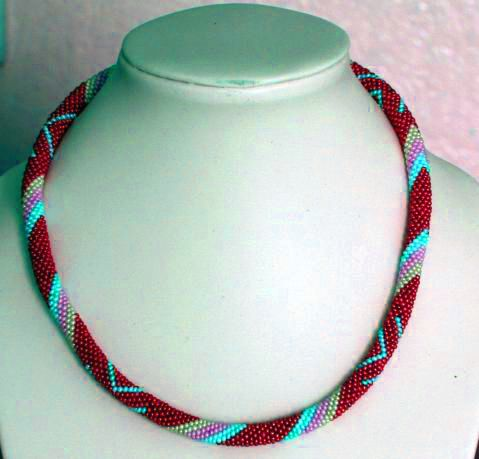 Free pattern for beaded crochet rope Yuliana | Beads Magic