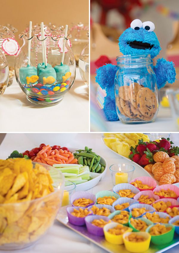 {Adorable!} Backyard Sesame Street First Birthday Party // Hostess with the Mostess®