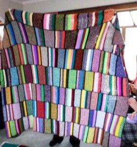 Lots of short stripes blanket