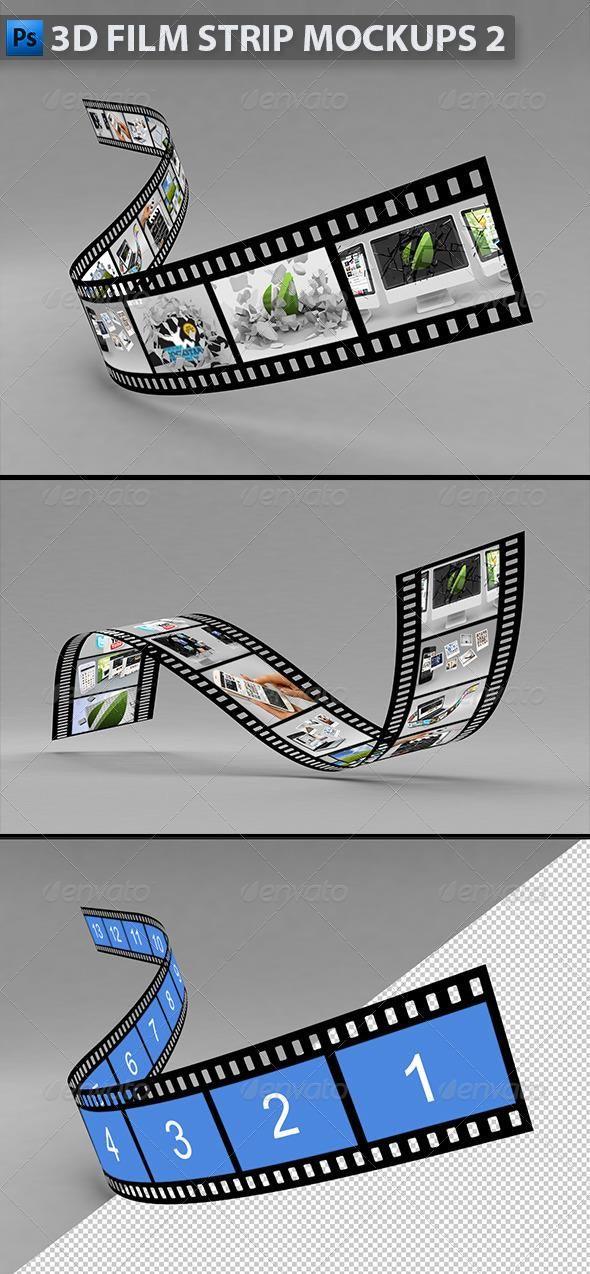 3D Film Strip Mock-ups 2