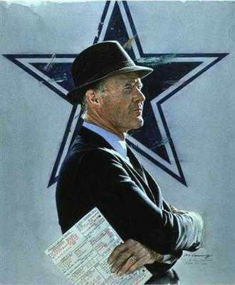 Tom Landry Dallas Cowboys by Merv Corning