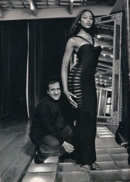 Azzedine Alaia and Naomi Campbell......Bandage Dressing Began with Azzedine Alaia!!!!