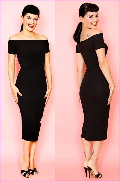 Great Wiggle Dress. Black is slimming and wiggles dresses give you shape rather ...