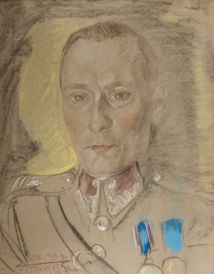 STANISŁAW IGNACY WITKIEWICZ (WITKACY 1885 - 1939)  PORTRET FRANCISZKA MACIAKA, 1934   pastel, papier / 65,5 x 51 cm