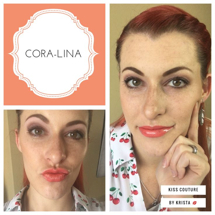 #coralina Cora-Lina is a beautiful shimmering coral-pink Limited edition Lipsense color. Looks great on warm skin tones. Click on the picture to visit my FB page Kiss Couture By Krista VIP Group, or visit my website kisscouturebykrista.com #Coralinalips #summerbeauty #fashion #lips #lipstick #kisscouturebykd #opportunity #Senegence #makeup #id385358 #kissmeitwontcomeoff