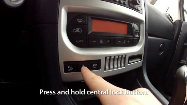 How to enable auto-locking central lock in #Peugeot #1007 anti #hijack #safety #cars