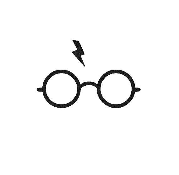 Éclair de Harry Potter lunettes silhouette par VinylAutomotives                                                                                                                                                     Plus