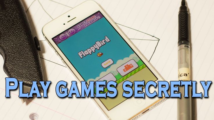 How to Secretly Play Mobile Games by Hiding Your Phone Inside of a Paper Notebook