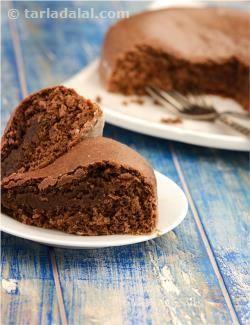A rich dark chocolate cake.