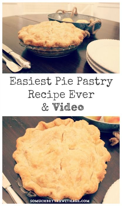 Easiest Pie Pastry Recipe Ever {with video!}