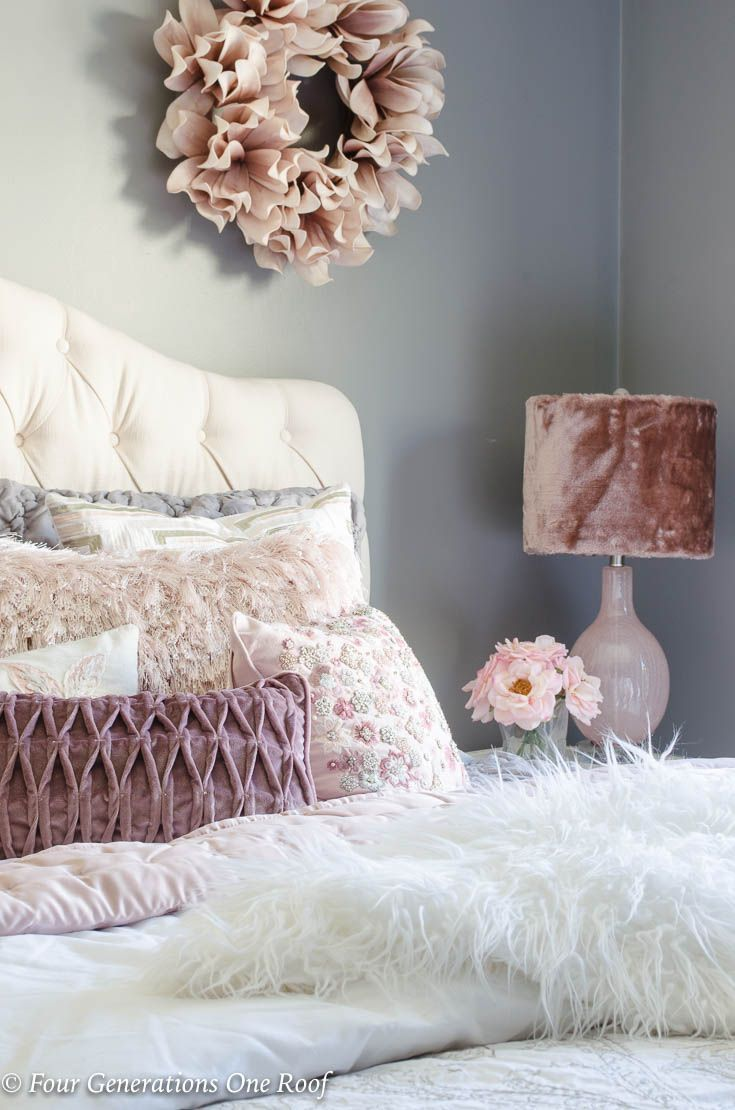 Elegant Teen Girl Queen Bedroom With Fluffy Accents Best Diy Home