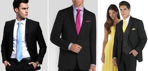 Цвет галстука под черный костюм