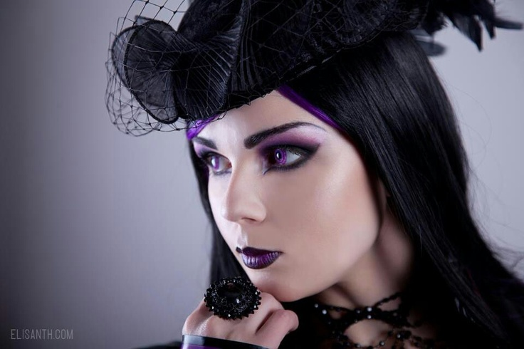 Modern Goth Babe With Purple Highlights Modern Gothic